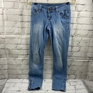 Max rave distressed skinny jeans with stretch